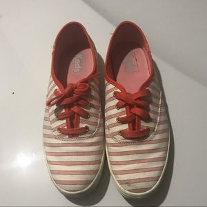 Keds orange and white sneakers